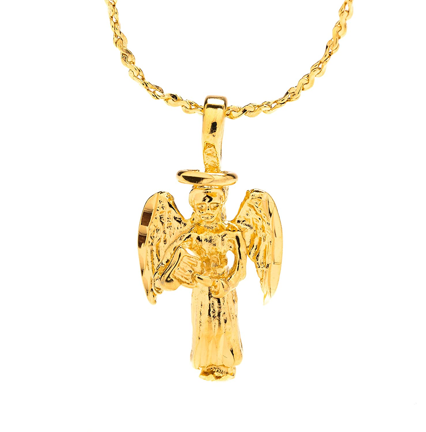 730a6dbe2de1a Guardian Angel, Pendant Necklace, Small, 24K Gold Premium Overlay Fashion  Jewelry, Guaranteed for Life, 18 Inch Chain