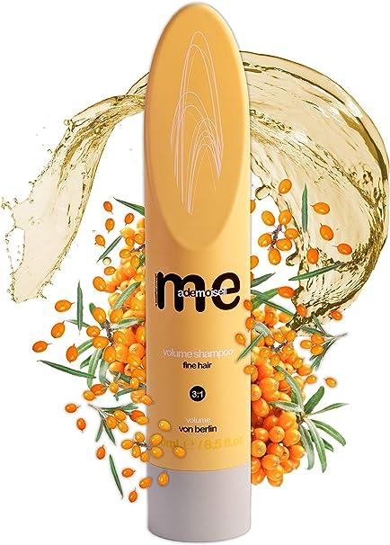 MeMademoiselle Volume Shampoo para cabello extrafino I Champú de queratina Champú de volumen y cuidado con bayas de espino amarillo I Made in Germany ...