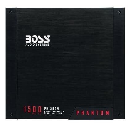 amazon com boss audio ph1500m phantom 1500 watt monoblock class a rh amazon com Boss Car Radio Diagram Boss Audio Wiring Harness Diagram