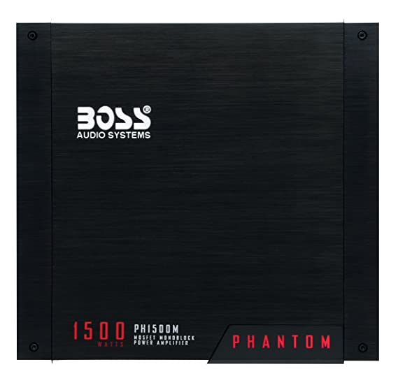 amazon com boss audio ph1500m phantom 1500 watt monoblock class a rh amazon com Car Stereo Amp Wiring Diagram Boss Amplifier Wiring Diagram