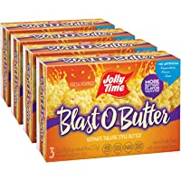 JOLLY TIME Blast O Butter | Ultimate Movie Theater Butter Microwave Popcorn (3-Count Box, Pack of 4)