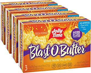 product image for Jolly Time Blast O Butter Ultimate Movie Theatre Microwave Popcorn - 3-Count Boxes (Pack of 12)