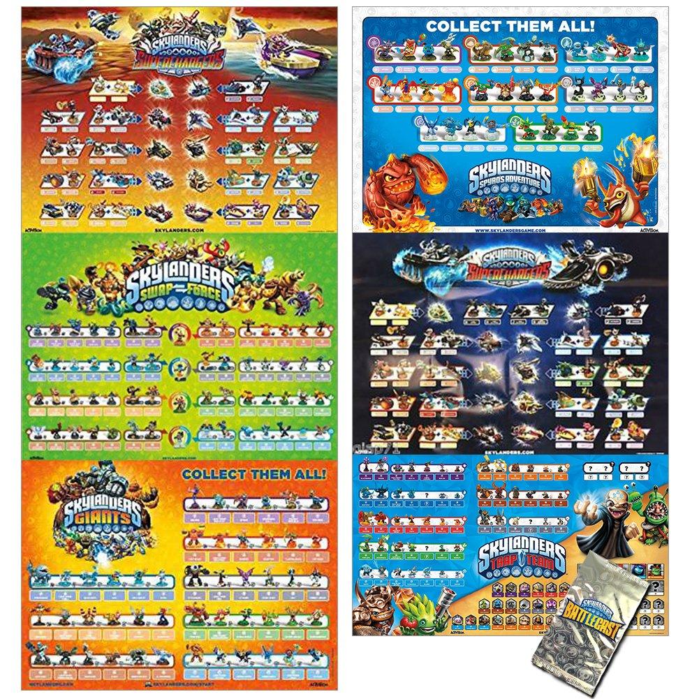 Skylanders Poster Value Pack with 6 Posters and Bonus Includes Skylanders Spyros Adventure, Skylanders Giants, Skylanders Swap Force, Skylanders Trap Team, and 2 Skylanders Superchargers Posters