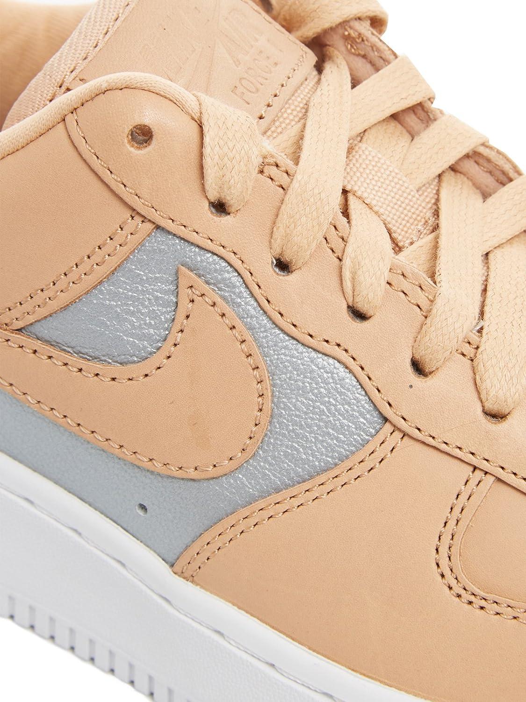 Womens Nike Air Force 1 Low Shoes Bio BeigeMetallic Silver AH6827 200 New Release