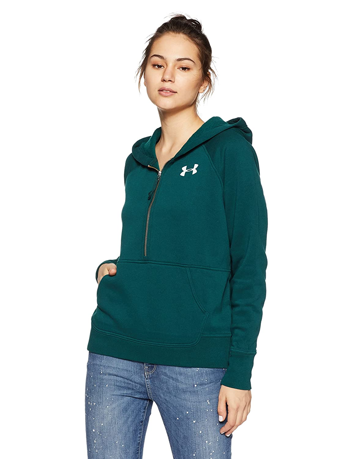 e0c6fcf8dd Amazon.com  Under Armour Womens Favorite Fleece 1 2 Zip  Sports   Outdoors