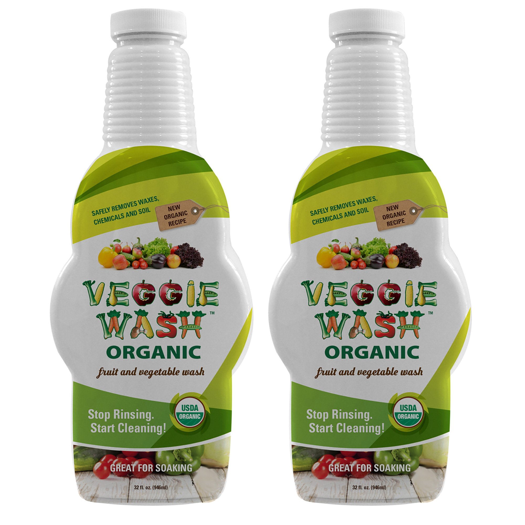 Veggie Wash Organic Fruit and Vegetable Wash, 32 Fl Oz, Pack of 2