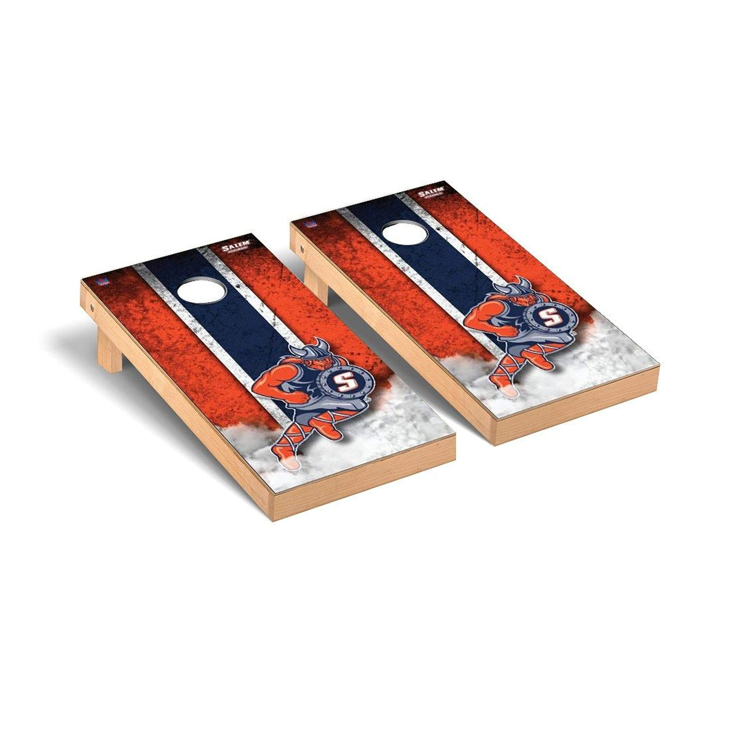 Victory Tailgate Regulation Collegiate NCAA Vintage Series Cornhole Board Set - 2 Boards, 8 Bags - Salem State Vikings by Victory Tailgate