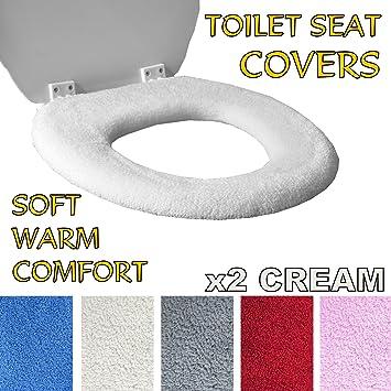 Alfombrilla de inodoro rojo Cubierta de Asiento de inodoro fundas para asiento de inodoro Abcsea 2 piezas fundas de asiento de inodoro Almohadillas para el asiento del inodoro