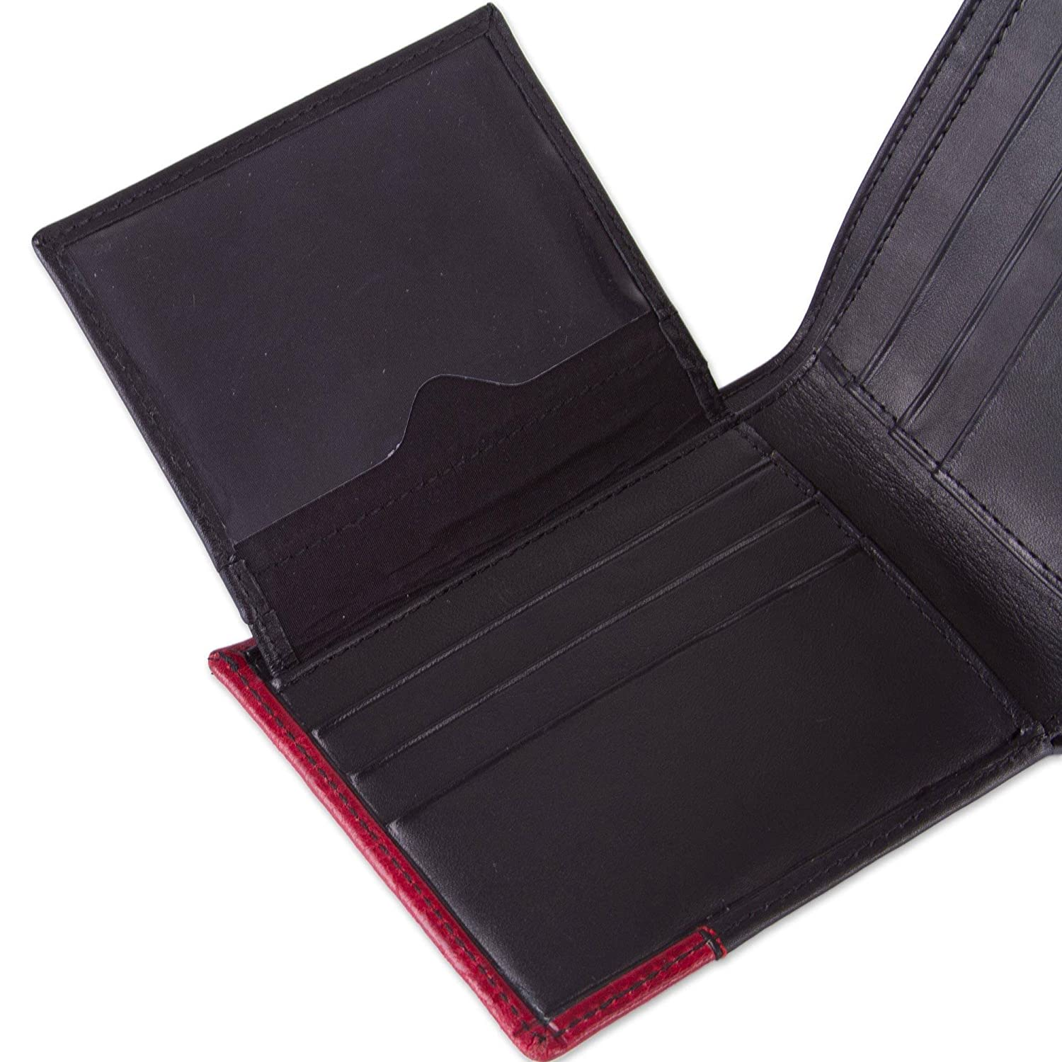 Crimson History NOVICA Black and Red Leather Animal Themed Wallets