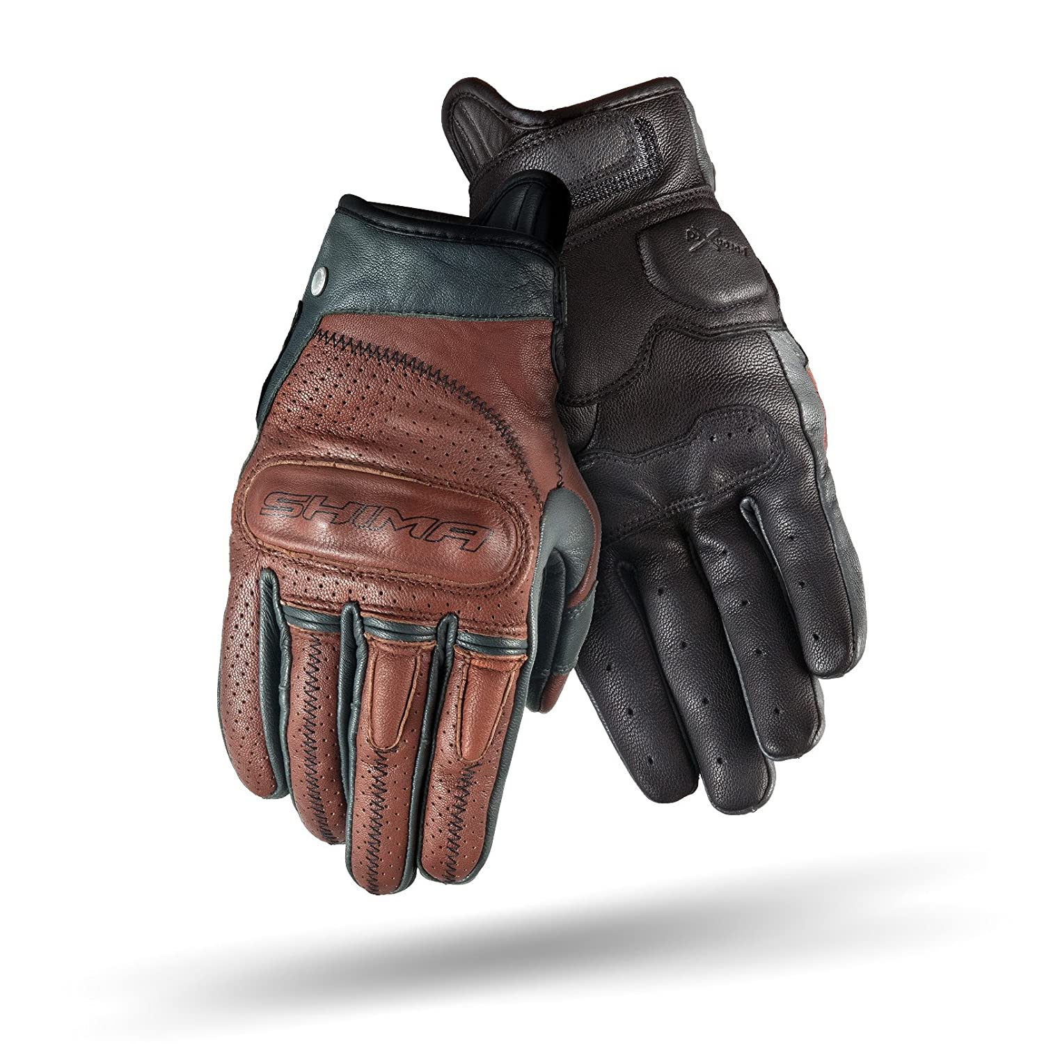 SHIMA Caliber Brown Brown Heritage Retro Vintage Classic Summer Motorcycle Gloves Size: L S-XXL