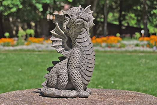 Dragón! Él mira hacia arriba! Dulce! Figura! Jardín!: Amazon.es: Jardín