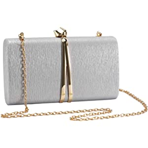 Maysurban Damen Clutch Handtasche aus Seiden Party