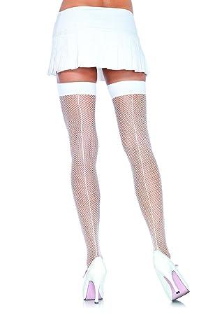 f71556dfb5c Leg Avenue Women s Backseam Thigh Highs