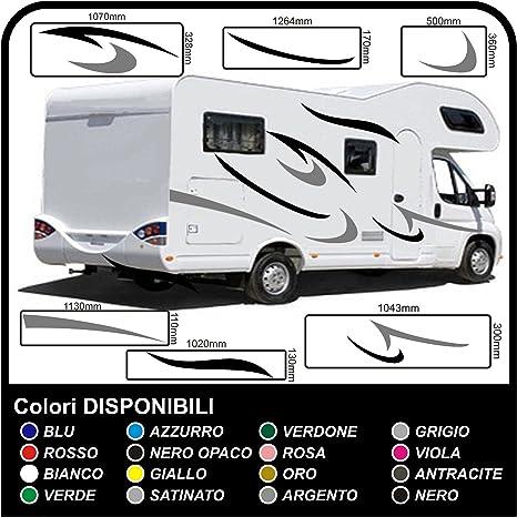 adesivi per CAMPER grafica in vinile adesivi decalcomanie Set Van RV Caravan Motorhome roulotte x 16 adesivi kit completo grafica 02 COLORI COME IN FOTO