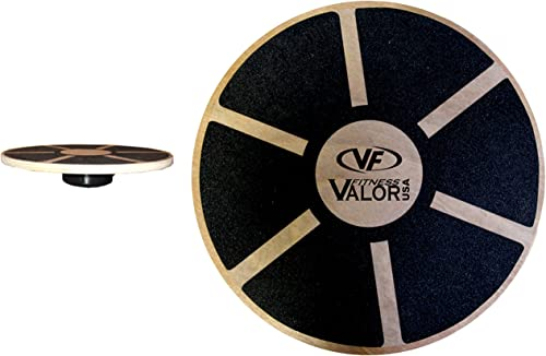 Valor Fitness EQ-1 Wood Balance Board with Non-Slip Surface Improve Core Strength, Coordination, Posture, and Balance
