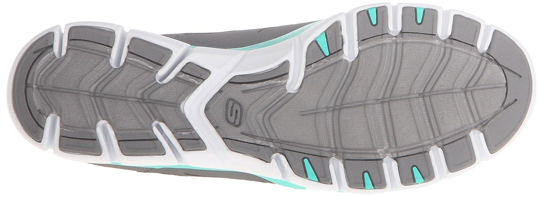 Skechers Sport Women's No Limits Slip-On Mule Sneaker B014EY2VX6 8 B(M) US|Grey Mint