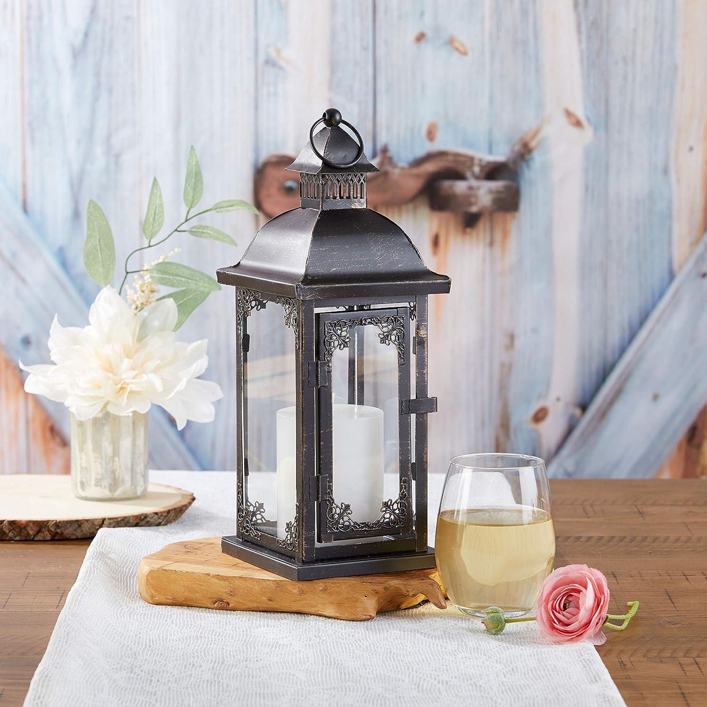Kate Aspen Antique Black Decorative Medium Lantern