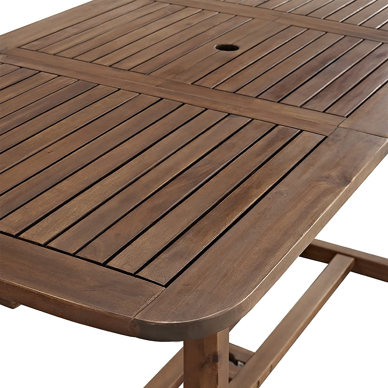Amazon WE Furniture Solid Acacia Wood 7 Piece Patio Dining
