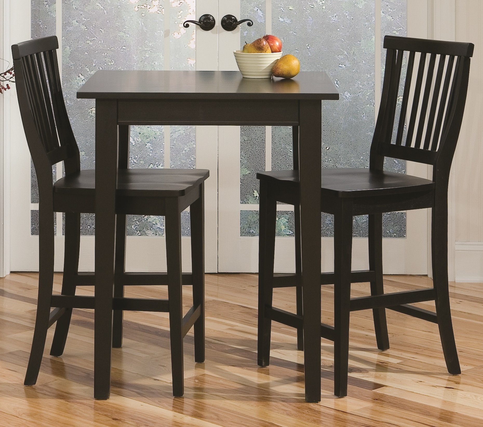 Home Style 5181-359 Arts and Crafts 3-Piece Bistro Set, Black Finish