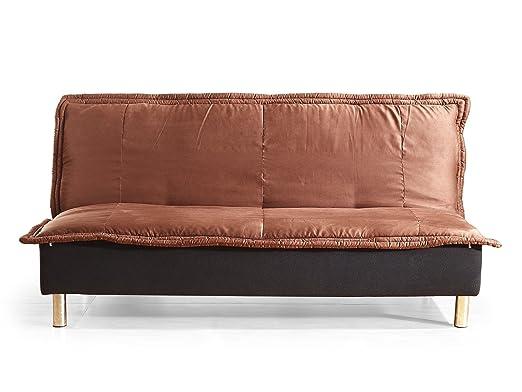 Klaks Schlafsofa Sofa Couch Casablanca Microfaser Braun Amazonde