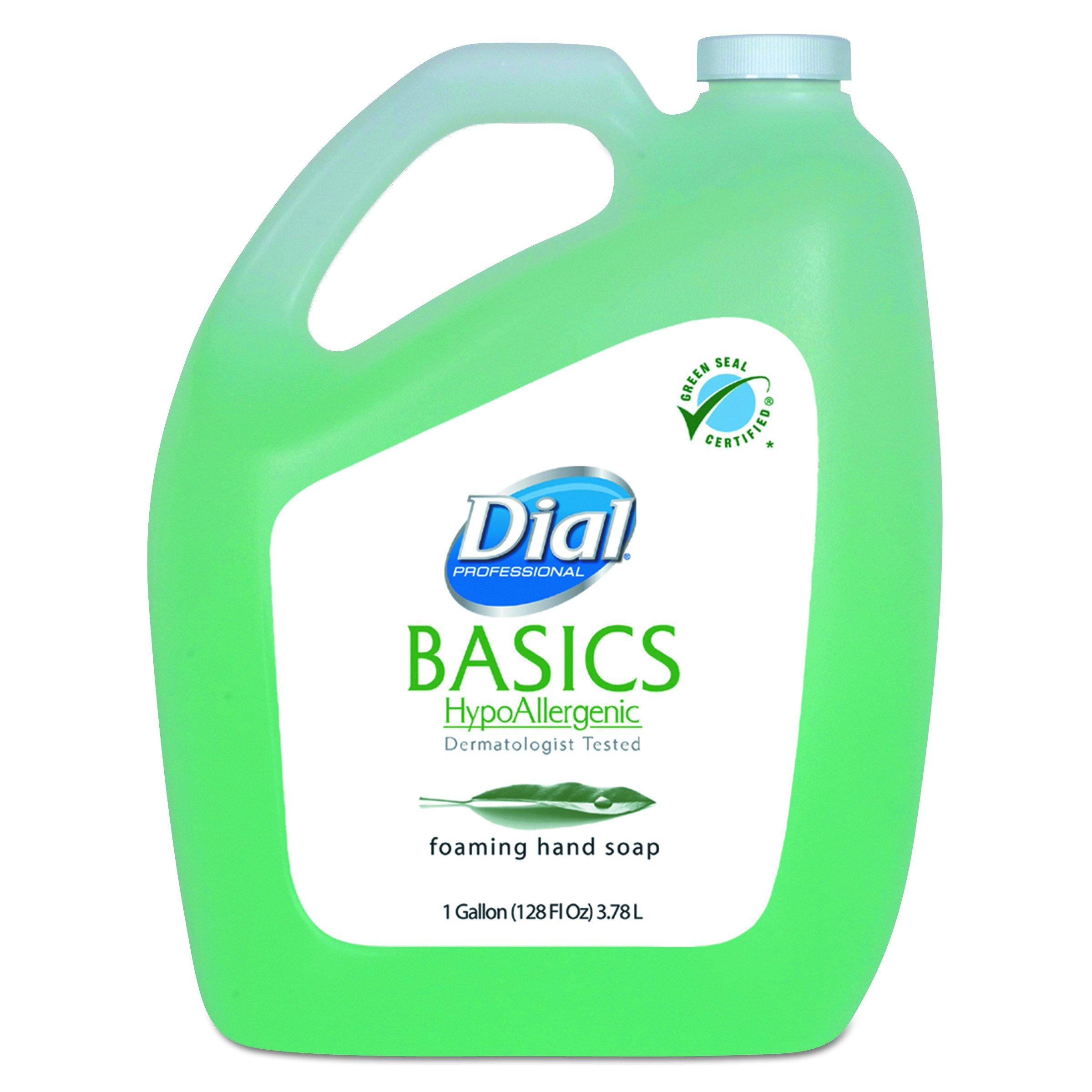 Dial Professional 98612CT Basics Foaming Hand Soap, Original, Honeysuckle, 1 Gallon Bottle (Case of 4 Bottles) by Dial