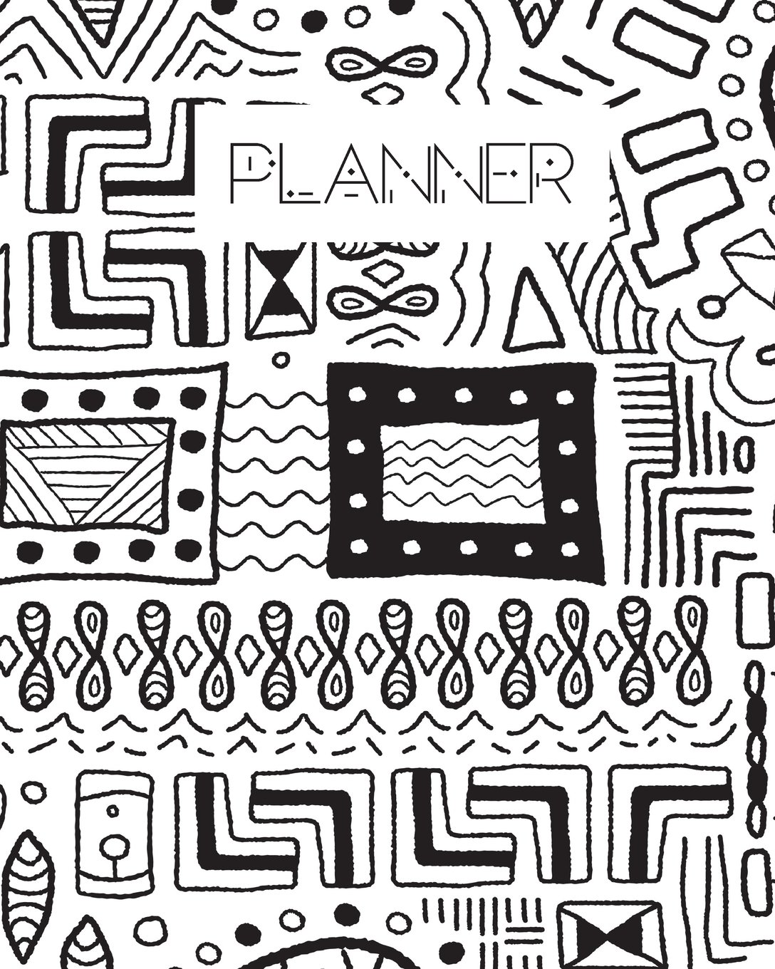 Read Online Planner: Academic Planner/Daily Planner/Best Daily Planner/At A Glance Planner/Tribal Colouring ebook
