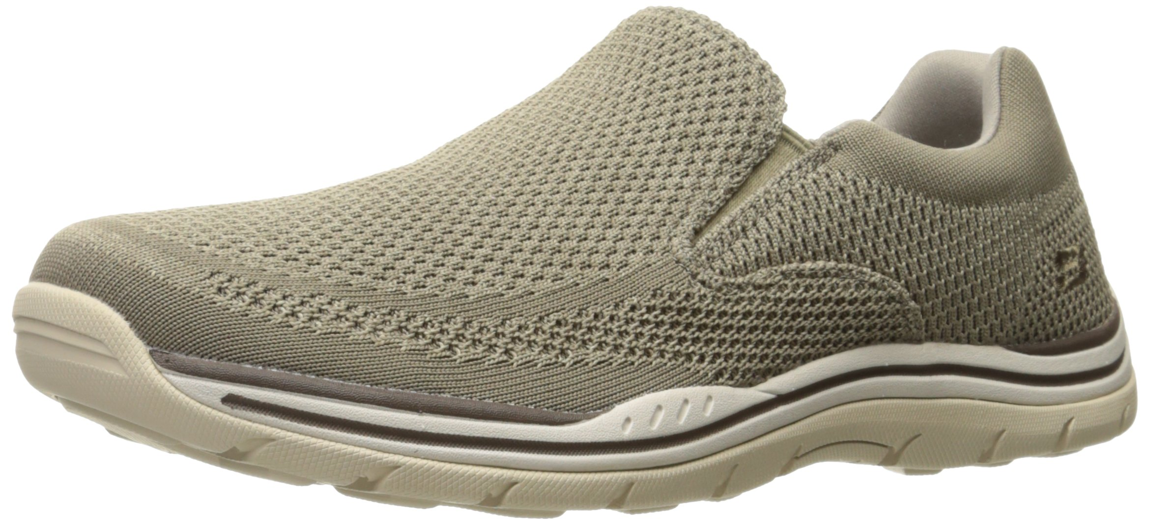 Skechers USA Men's Expected Gomel Slip-on Loafer, Taupe, 10.5 2W US