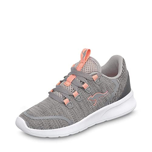 KangaROOS Kf Lock, Zapatillas Unisex Adulto, Gris (Vapor Grey/Dusty Rose 2075
