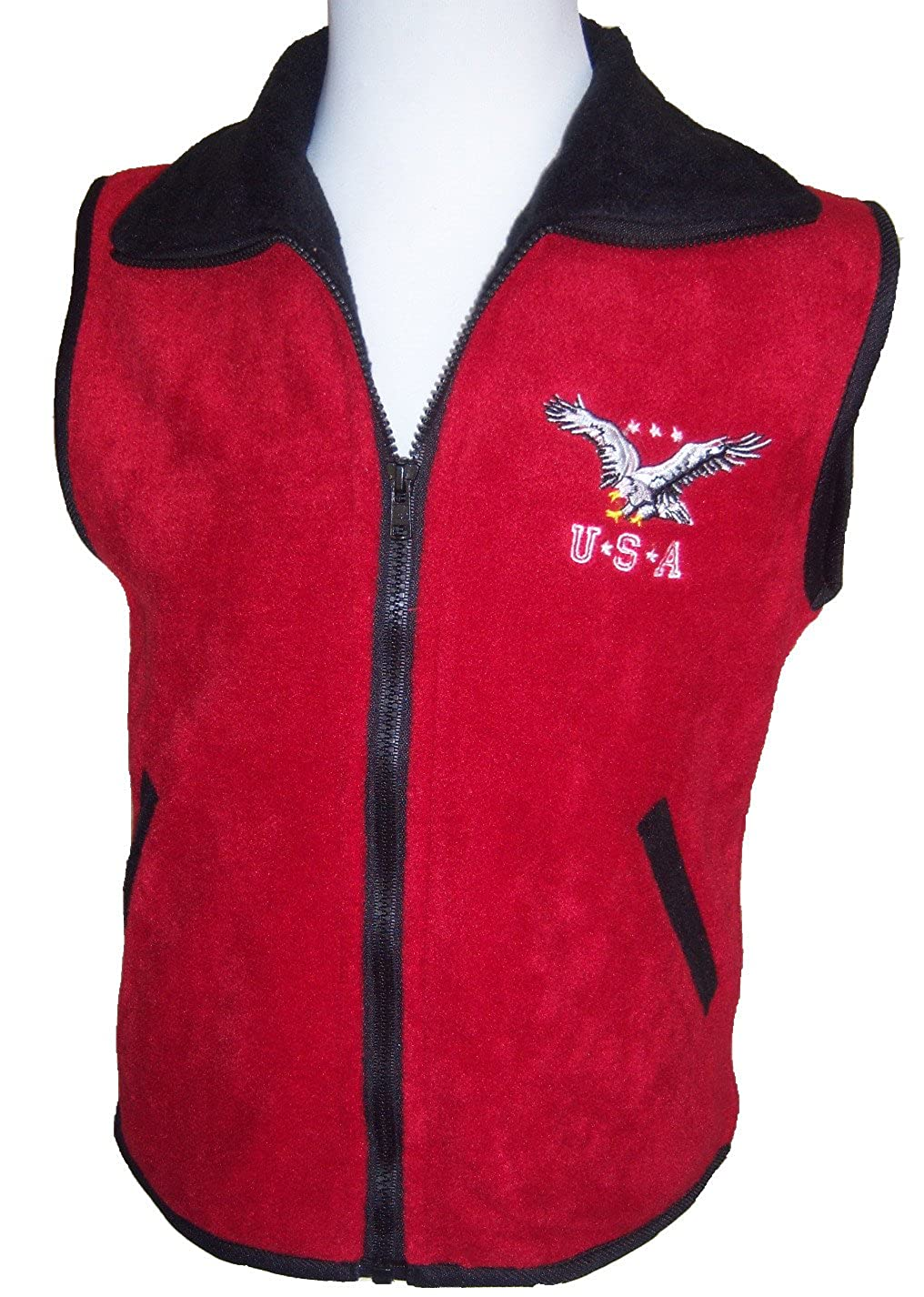 J.J. Coolwear Boys Girls Eagle Embroidery Vest Outerwear Size: 4 - 6x/7
