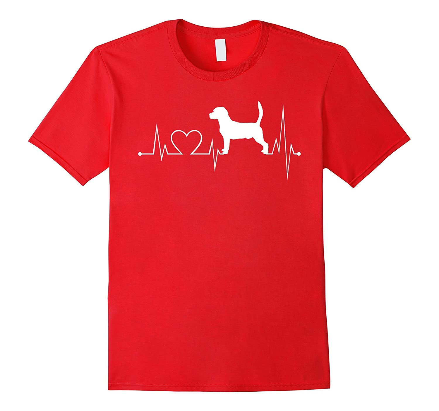 Beagle-dog heartbeat shirt-Beagle-dog lovers tshirt-Vaci