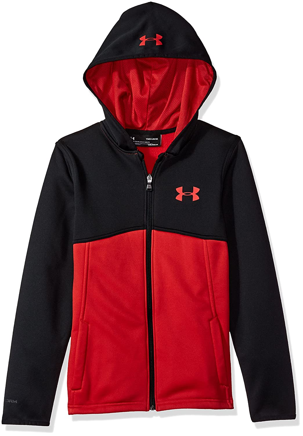 Under Armour Boys Af Full Zip Hoody Warm-up Top