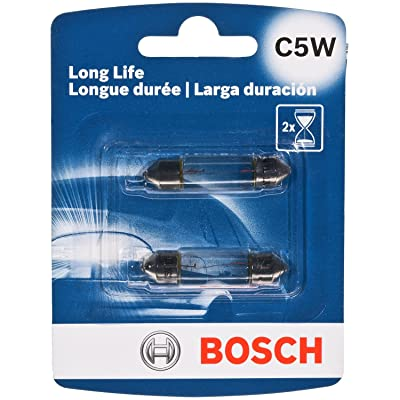 Bosch C5W Long Life Upgrade Minature Bulb, Pack of 2: Automotive
