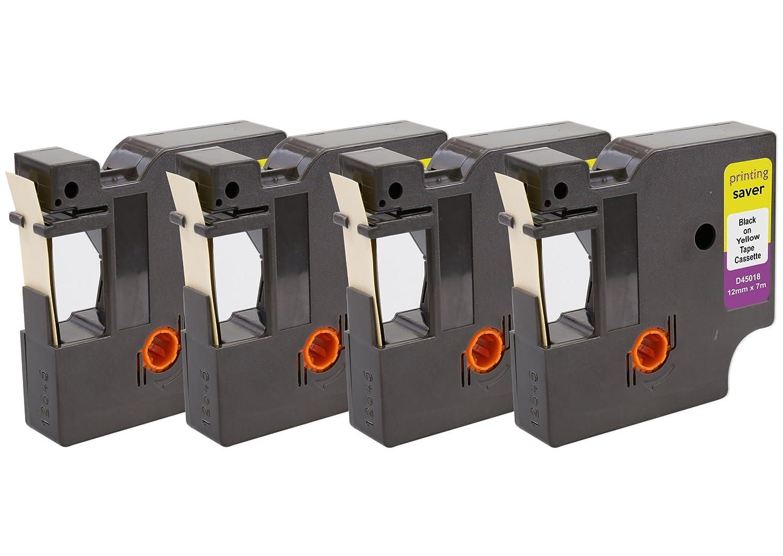Printing Saver 10x D1 45013 S0720530 Negro Sobre Blanco 12 mm x 7 m Cinta Compatible para Impresoras de Etiquetas DYMO LabelManager LM 100 160 200 210D 280 360D 400 420P 500TS PnP LabelWriter 450 Duo