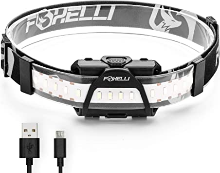 USB Rechargeable LED Head Torch,Waterproof Lightweight /& Comfortable