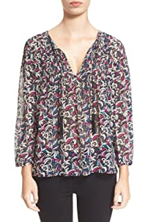 912025c31a6cf Amazon.com  Joie Women s Madera Animal Printed Silk Tie-Front Blouse ...
