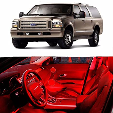 Led Red Lights Interior Package Kit For Ford Excursion  Bulbs