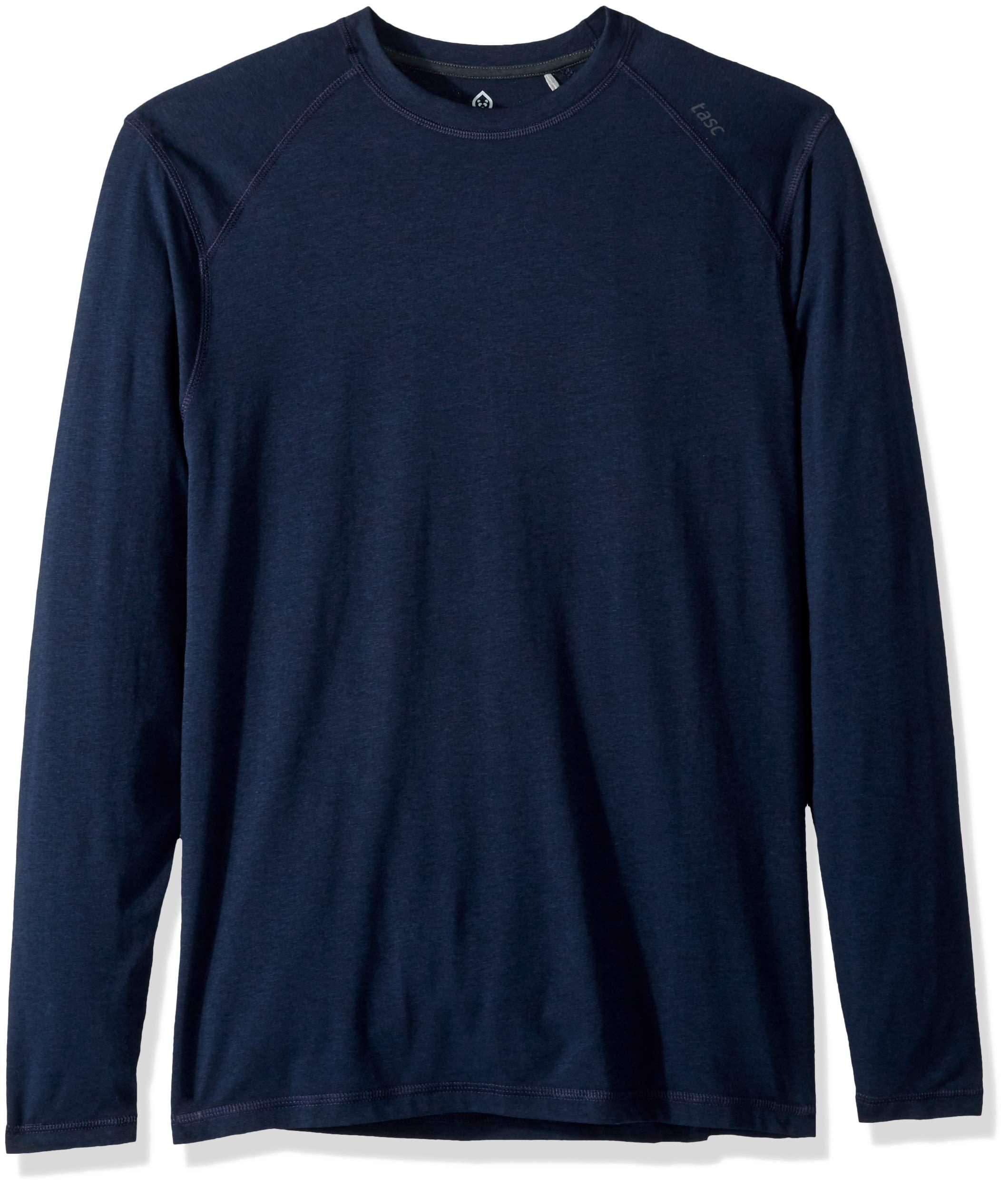 tasc Performance Carrollton Long Sleeve T-Shirt, classic Navy, Small by tasc Performance