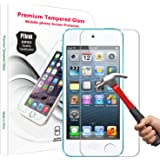 PThink 0.3mm Ultra-thin Tempered Glass Screen Protector for iPod Touch 5G 5th Generation with 9H Hardness/Perfect Anti-scratch/Fingerprint & water & oil resistant (iPod Touch 5G 5th Generation)