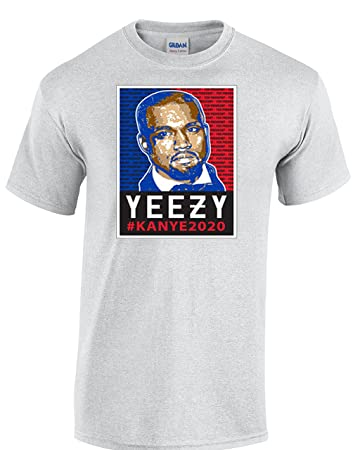 3f11fc8cbb4af Amazon.com: Hot Ass Tees Adult Novelty Yeezy Kanye For President ...