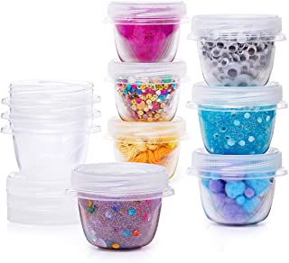 product image for Rubbermaid Slime and Craft Storage Containers, 10 Piece Set, Clear