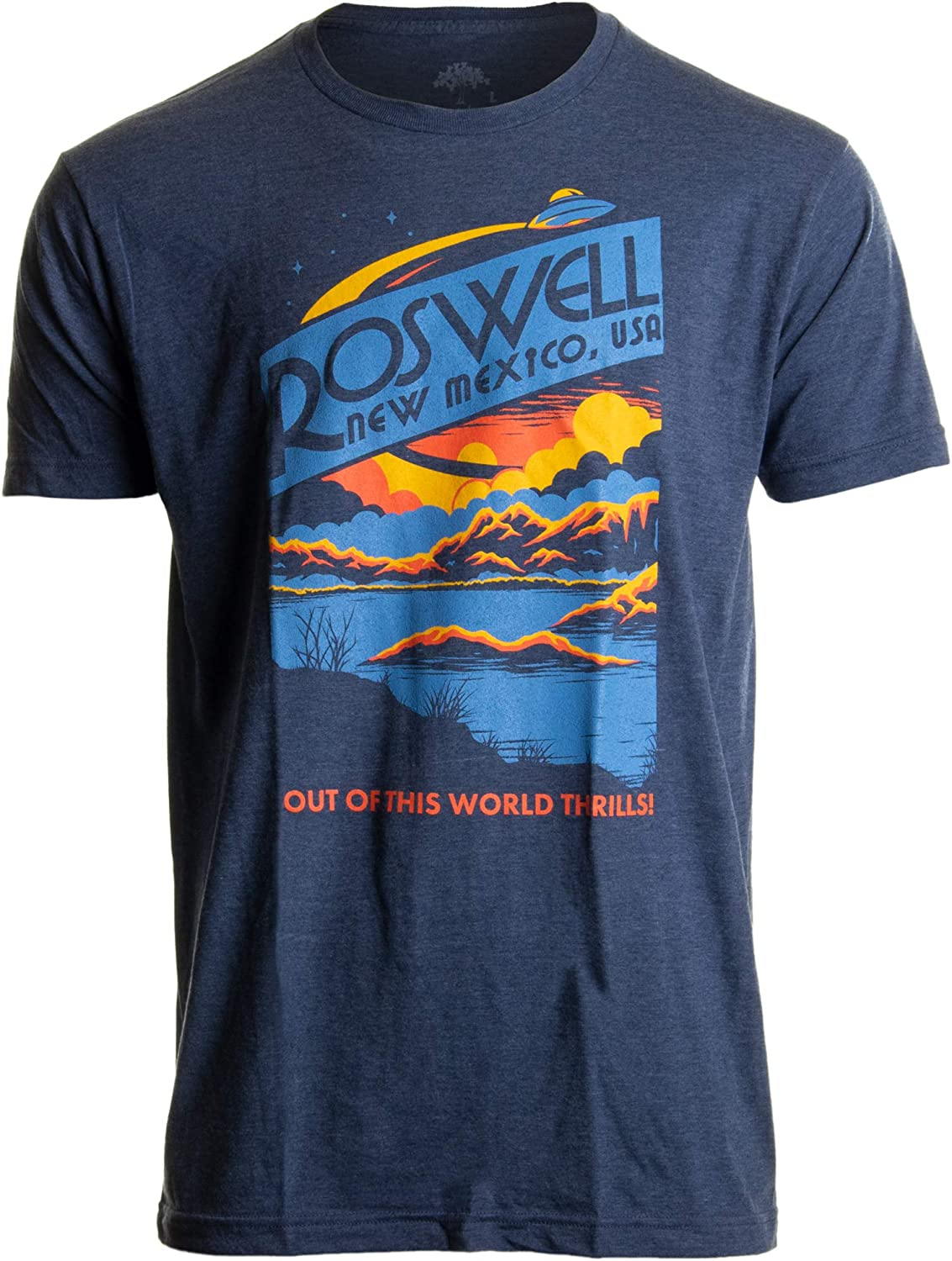 Roswell, NM Tourism | Funny Alien Extraterrestrial UFO Saucer Men Women T-Shirt
