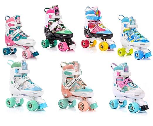 meteor® Retro Rollschuhe: Disco Roller Skate wie in den 80er Jahren, Jugend Rollschuhe, Kinder Quad Skate, 5 Verschiedene Far