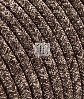 Textilkabel f/ür Lampe Stoffkabel 3-adrig 3x0,75mm/² * Made in Europe * Schwarz 10 Meter