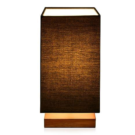 Viugreum Lámpara de mesa,Lámpara decorativa,Lámpara de escritorio para Estudio,Dormitorio,Salón,Dormitorio de bebe,Guadrada(Negro)-sin bombilla