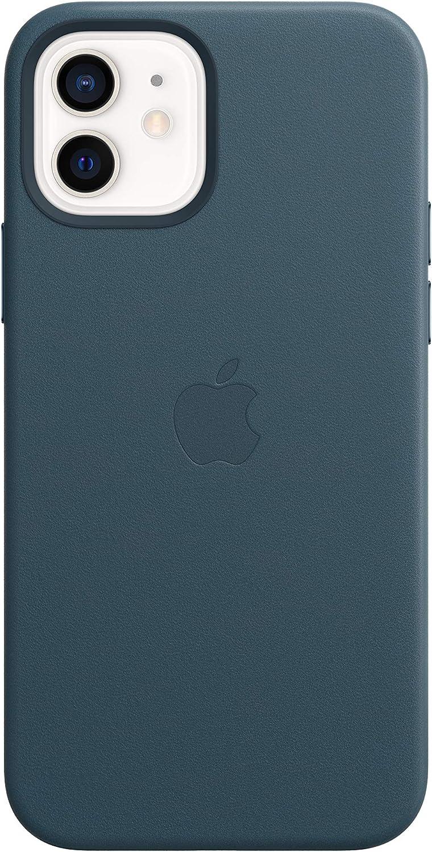 Apple Funda de Piel con MagSafe (para el iPhone12 y iPhone12Pro) - Azul báltico
