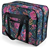 Distinctive Small Floral Pattern Premium Sewing Machine Tote Bag for 3/4 Sewing Machines such as Janome Jem Series and Singer Featherweight Series