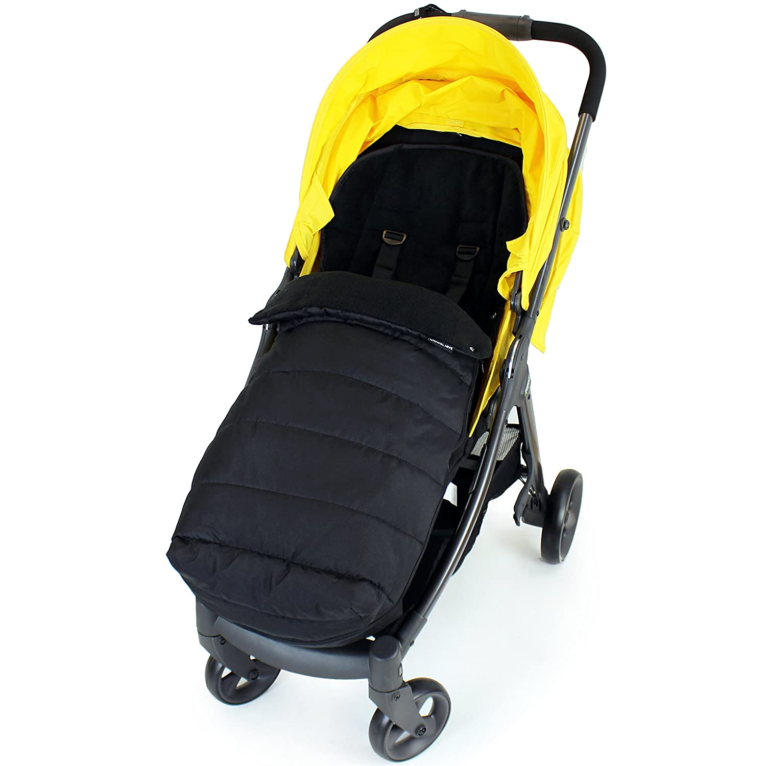 XXL Large Luxury Foot-muff And Liner For Mamas And Papas Armadillo Black Black