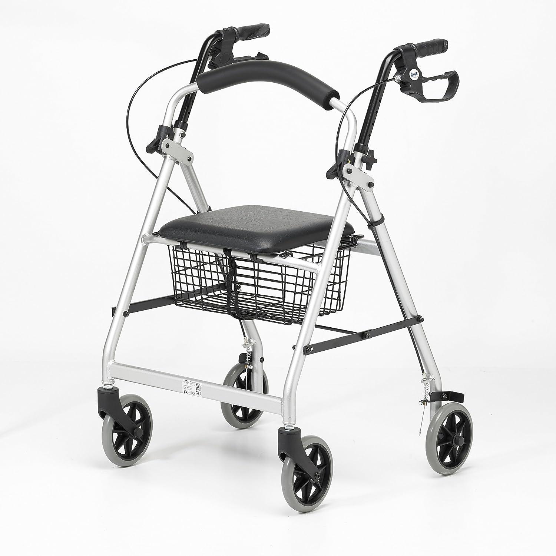 Patterson Medical - Andador ligero de aluminio con ruedas, color ...