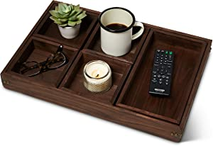 Ottoman Serving Trays for Coffee Table - Large Rustic Coffee Tray for Coffee Tables - Large Couch and Sofa Serving Tray for Food - Dimension (18.5 x 12 inches)