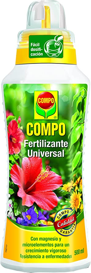 Comprar Compo Calidad para Plantas Ornamentales de Interior o terraza, Fertilizante líquido Universal con Extra de magnesio, 500 ml, 1433312011